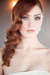 Bridal hairstyles - retro waves