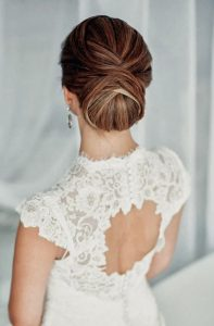 Bridal hairstyles - low chignon