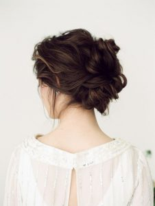 Textured updo - Rebecca Oates up styling