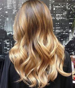 Golden blonde balayage