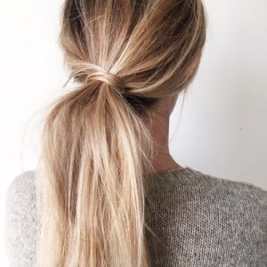 Wrapped ponytail - easy ways to style a ponytail