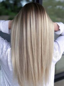 Perfectly straight hair - Rebecca Oates Bicton